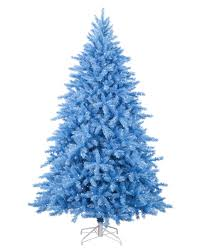 9 Ft Slim Christmas Tree Prelit by Baby Blue Artificial Christmas Tree Treetopia