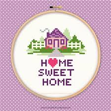 Home Sweet Cross Stitch Pattern House Love Heart Mansion Apartment Real Estate PDF Instant Printable Download Includes Beginners How To From