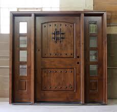 Rustic Front Doors Exterior Wide