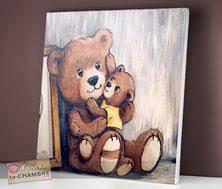 tableau ourson chambre bébé tableau ourson endormi 80 tableaux peinture ourson