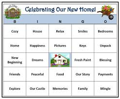 Housewarming Party Bingo Game 30 Cards House And Home Theme Words Very Fun Print Play