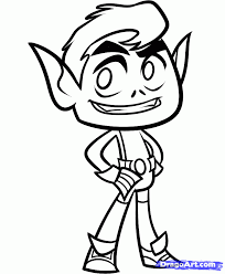 Beast Boy Coloring Pages