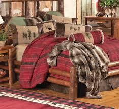 Rustic Bedding King Size Highlands Cabin Bed Set