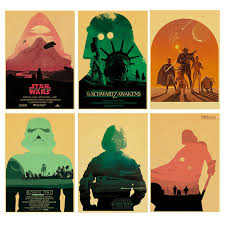 Star Wars Poster New Hope The Force Awakening Rogue OneThe Phantom Menace