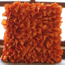 Bright Orange Decorative Pillows