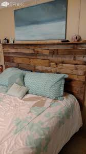Tall Rugged King Size Pallet Headboard DIY Bed Frame