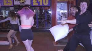 Pillow Fight Strangers Prank Gone ual