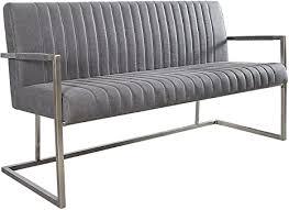 echt edelstahl sitzbank big aston vintage grau 160cm mit