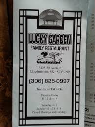 Menu at Lucky Garden restaurant Lloydminster