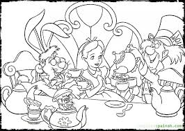 Alice In Wonderland Coloring Pages Party Colouring Online