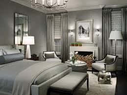 Master Grey Bedroom Decorating Using Cover Queen Sized Bed Sheet Feats Fireplace And Chandelier Ideas