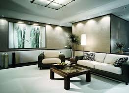 bamboo painting and track lighting for japanese living room