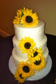 Sunflower Wedding Cake Photo