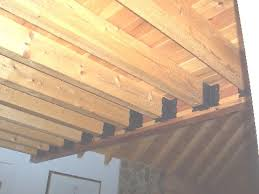 2 x 6 decorative joist hangers log cabin and log home interior details of beams joist hangers