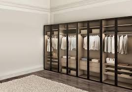moderne kleiderschrank für schlafzimmer mit glastüren