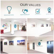 New Signage at HQ Meridian Business Support Manchester England