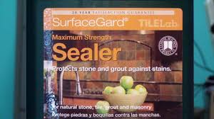 Tilelab Grout And Tile Sealer Sds by Tilelab Surfaceguard Stone Sealer Review Youtube