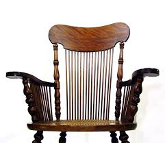 Antique Rocking Chair Tiger Oak Wooden Rocker Cane Seat Activeaid ...