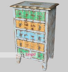Indian Multi Coloured Distressed Furniture