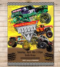 Fancy Monster Jam Party Invitations - Birthday Invitation Ideas Gallery Monster Truck Party Favors Homemade Decor Jam Party Favor Birthday Pinterest Bags Supplies Invitations 8 Includes Dinner Plates Its Fun 4 Me 5th Invitation Printable Invite Jam Gravedigger Ideas Photo 3 Of 10 Catch New 329 Best Monster Truck Food Labels Race Nestling Reveal
