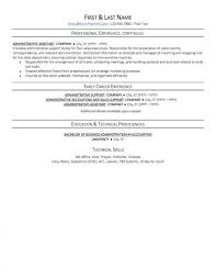 Sample Resume Administrative Assistant Templates Office Page2 Excellent Canada Hospital 1920