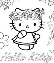 Happy Valentines Day From Hello Kitty Coloring Page For Kids