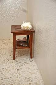 Pebble Bathroom Floor Tiles Interesting On With White Tile Shop Contemporary