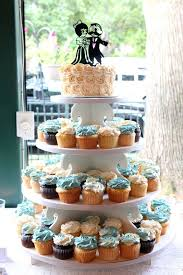 Cup Cake Stand With Wedding On Top Layer