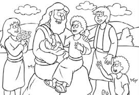 Free Coloring Page Jesus And The Children
