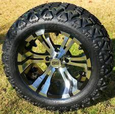 100 14 Inch Truck Tires VAMPIRE Golf Cart Wheels And 23x10 All Terrain Golf Cart