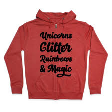 Unicorns Glitter Rainbows Magic Hoodie