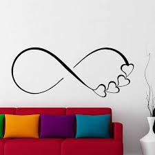 wandtattoos herzen und infinity symbol aufkleber liebe zeichen familie aufkleber schlafzimmer wohnkultur hochzeitsgeschenk für paare lv14