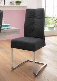 mca furniture esszimmerstuhl salva schwingstuhl 1 2er set mit tonnentaschenfederkern belastbar bis max 120 kg