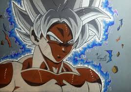 FanartMastered UI Goku With Super Saiyan Hair That I Drew Colored Pencils Fanart Ireddit