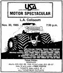 OnThisDayInHistory At The Los Angeles... - Los Angeles Memorial ... Monster Jam Oakland Coliseum 277 Days Of Sun Heads To Dc Jam Monsters And Trucks Advanced Autoparts Los Angeles Jacobkhan Battlecorn Trucks Wiki Fandom Powered By Wikia Tickets Motsports Event Schedule Fun Facts Returning Orlando Florida 2017 Lucas Till Lands Back In Continue Orange County Na At Angel Stadium Anaheim La Fair Truck Show S Over Carnival Rides Offered At Opens Its 2018 Season Nashville Wanderlust Jay Leno Gets Huge Massive Insane Air A Monster Truck Events 2012 Angels