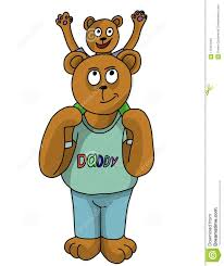 Papa Bear And His Son Stock Illustration Of Have