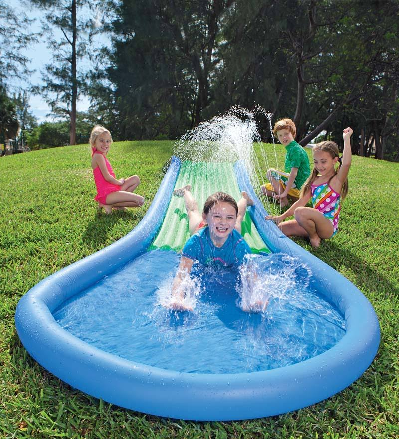 HearthSong Kids Inflatable Water Slide