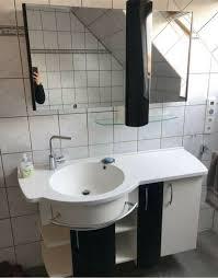 badezimmer set möbel waschbecken spiegelschrank