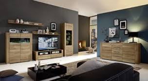 wohnwand wohnzimmer set dinaro 6 tlg sideboard vitrine wandboard tv regal kommode eiche hell led beleuchtung