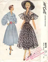 McCall 8078 1950s Party Dresses1940s DressesVintage