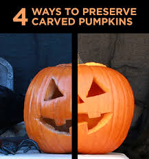 Simple Steps To Carving A Pumpkin by Preserve Carved Pumpkins With These Four Easy Hacks