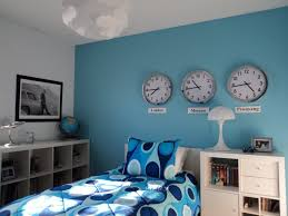 Girl Room Wall Paint Image Astounding Images Of White And Blue Bedroom Decorating Design Ideas Simple Neat