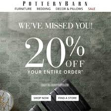 20% Off POTTERY BARN Promo Coupon Code FAST OnIine Or In ... Indiana Beach Amusement Park Coupons Caseys Restaurant Misfit Cosmetics Discount Code Delivery Beer Cafe Pottery Barn Coupon 15 Off Percent Offer Promo Deal Pottery 20 Off A Single Item Today At Glam Glow Coupon Barn Discounts And See Our Latest Sherwinwilliams Paint Promotion Pottery Best Discount Shop Dobre Pumpkin Nights Auburn 27 Mdblowing Hacks Thatll Save You Hundreds Fniture Shipping Coupon Pbteen Pedigree Dog Food Online