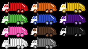Garbage Truck Colors - Street Vehicles - The Kids' Picture Show (Fun ...