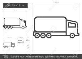 Semi-truck Vector Line Icon Isolated On White Background. Semi-truck ... Semi Truck Outline Drawing Vector Squad Blog Semi Truck Outline On White Background Stock Art Svg Filetruck Cutting Templatevector Clip For American Semitruck Photo Illustration Image 2035445 Stockunlimited Black And White Orangiausa At Getdrawingscom Free Personal Use Cartoon Transport Dump Stock Vector Of Business Cstruction Red Big Rig Cab Lazttweet Clkercom Clip Art Online Trailers Transportation Goods