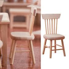 1 12 puppenhaus miniatur holz stühle stuhl puppenhausmöbel