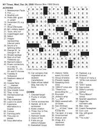 the new york times crossword in gothic december 2008