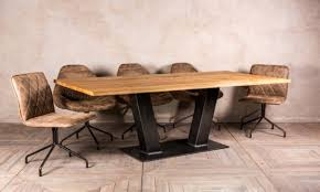 Dining Room Table Antique Oak Top Industrial Style Kitchen Tables