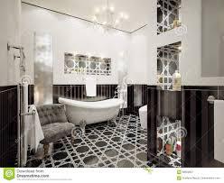 innenarchitektur des klassischen badezimmers mit den weißen