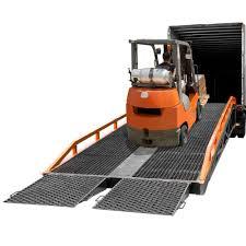 100 Truck Ramp 22000lb Capacity Portable Steel Yard 37L X 8112W